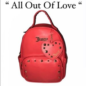 Juicy Couture All Out of Love Red Mini Backpack